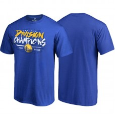 Golden State Warriors Royal 2017 Pacific Division Champions T-Shirt