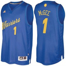 Golden State Warriors #1 JaVale McGee Christmas Jersey