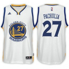 Golden State Warriors #27 Zaza Pachulia White Home Jersey