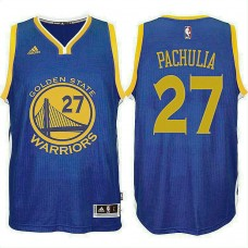 Golden State Warriors #27 Zaza Pachulia Blue Jersey