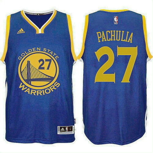 Golden State Warriors #27 Zaza Pachulia Blue Jersey