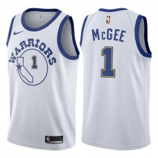 JaVale McGee Golden State Warriors #1 White Hardwood Classic Jersey