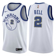 Golden State Warriors #2 Jordan Bell White Hardwood Classics Jersey