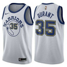 Golden State Warriors #35 Kevin Durant White Hardwood Classics Jersey