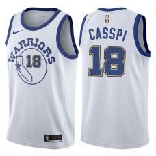 Omri Casspi Golden State Warriors #18 White Hardwood Classic Jersey
