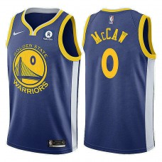 Golden State Warriors #0 Patrick McCaw Royal Icon Jersey