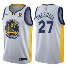 Golden State Warriors #27 Zaza Pachulia White Association Jersey
