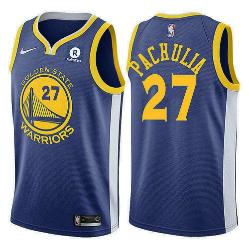 Golden State Warriors #27 Zaza Pachulia Royal Icon Jersey