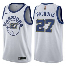 Golden State Warriors #27 Zaza Pachulia White Hardwood Classics Jersey