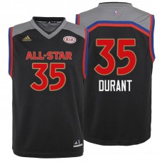 Youth All Star Jerseys #35 Kevin Durant Charcoal All-Star Jersey
