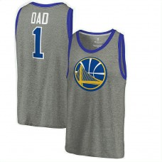 2017 Father's Day Golden State Warriors Ash #1 Dad Tri-Blend Tank Top Jersey