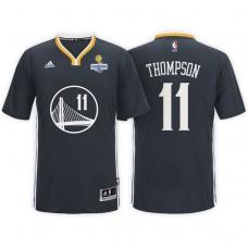 Golden State Warriors #11 Klay Thompson Black Champions Jersey
