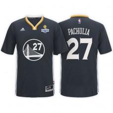 Golden State Warriors #27 Zaza Pachulia Black Champions Jersey