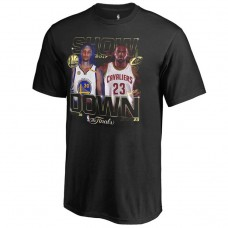 2017 Finals Cavaliers vs Golden State Warriors Bound Dueling Player Match Up Black T-Shirt