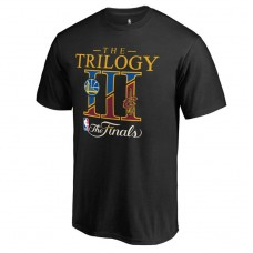 2017 Finals Cavaliers vs Golden State Warriors Bound Dueling Trilogy Black T-Shirt