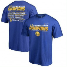 2017 Finals Golden State Warriors Alley-Oop Roster Royal T-Shirt