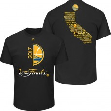 2017 Finals Golden State Warriors Bench Points Roster Black T-Shirt