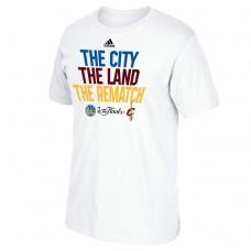 2017 Finals Golden State Warriors City Land Rematch White T-Shirt
