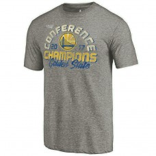 2017 Finals Golden State Warriors Fade Away Tri-Blend Gray T-Shirt