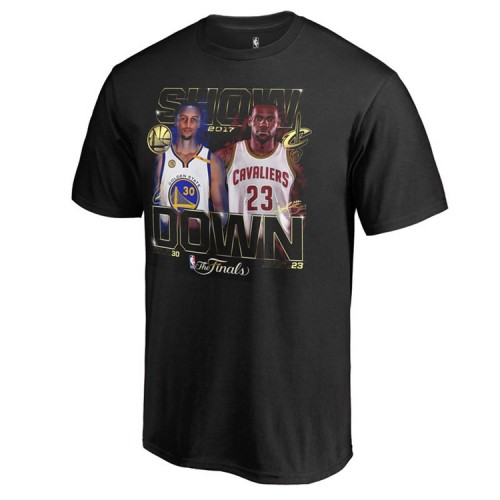 Youth 2017 Finals Cavaliers vs Golden State Warriors Bound Dueling Player Match Up Black T-Shirt