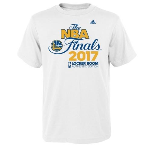 Youth 2017 Finals Golden State Warriors Locker Room White T-Shirt