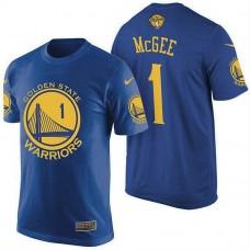 Golden State Warriors #1 JaVale McGee Blue Finals T-Shirt