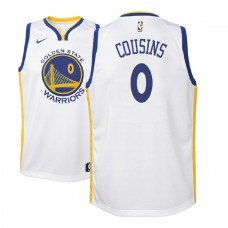 Youth 2018-19 DeMarcus Cousins Golden State Warriors Association White Jersey