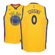 Youth Golden State Warriors #0 DeMarcus Cousins City Jersey