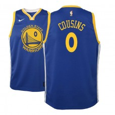 Youth Golden State Warriors #0 DeMarcus Cousins Royal Icon Jersey