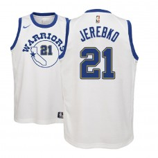Youth 2018-19 Jonas Jerebko Golden State Warriors Classic Edition White Jersey