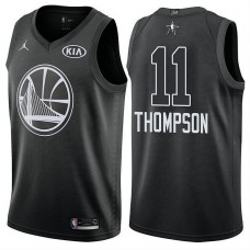 Golden State Warriors #11 Klay Thompson Black 2018 All-Star Jersey