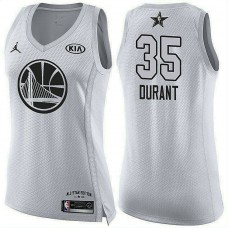 Women's All Star Jerseys #35 Kevin Durant White 2018 All-Star Jersey