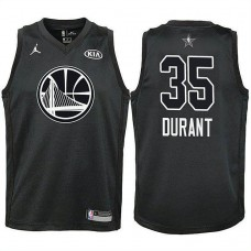 Youth All Star Jerseys #35 Kevin Durant Black 2018 All-Star Jersey