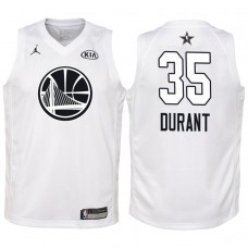 Youth All Star Jerseys #35 Kevin Durant White 2018 All-Star Jersey
