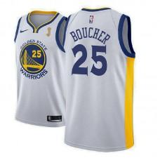 2018 NBAChampions Patch Chris Boucher Golden State Warriors White Jersey