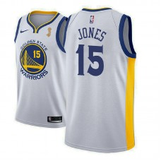 Golden State Warriors #15 Damian Jones Champions Jersey