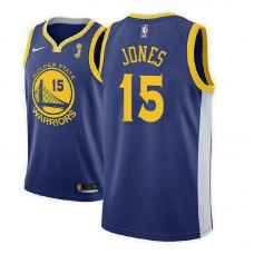 Golden State Warriors #15 Damian Jones Blue Champions Jersey