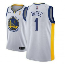 Golden State Warriors #1 JaVale McGee White Champions Jersey