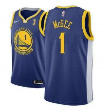 Golden State Warriors #1 JaVale McGee Blue Champions Jersey