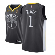 Golden State Warriors #1 JaVale McGee Gray Champions Jersey