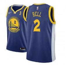 Golden State Warriors #2 Jordan Bell Blue Champions Jersey