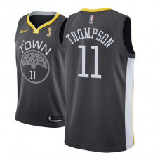 2018 NBAChampions Patch Klay Thompson Golden State Warriors Gray Jersey