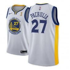 Golden State Warriors #27 Zaza Pachulia White Champions Jersey