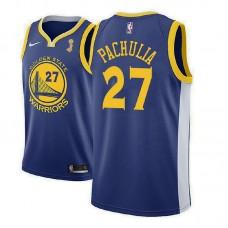 Golden State Warriors #27 Zaza Pachulia Blue Champions Jersey