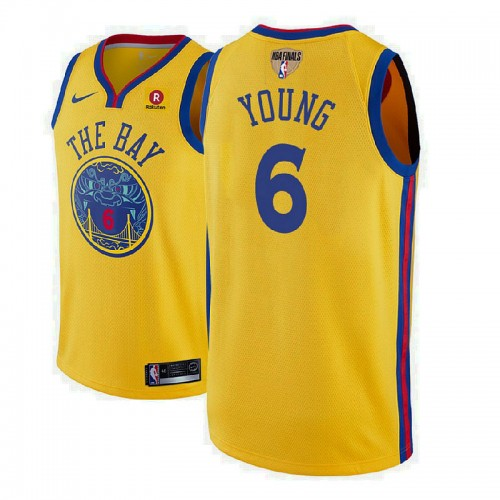 Golden State Warriors 6 Nick Young Gold City Jersey