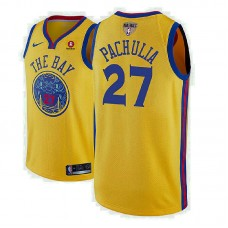 Golden State Warriors #27 Zaza Pachulia City Jersey