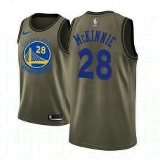 Golden State Warriors #28 Alfonzo McKinnie Camo Military Camo Fashion Jersey