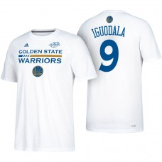 Andre Iguodala Golden State Warriors #9 2017 Finals White T-Shirt