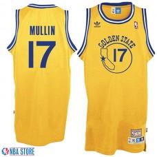 Golden State Warriors #17 Chris Mullin Gold Hardwood Classics Jersey