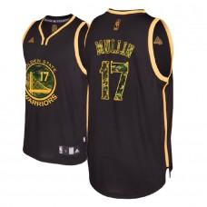 Chris Mullin Golden State Warriors #17 Black Camo Fashion Jersey